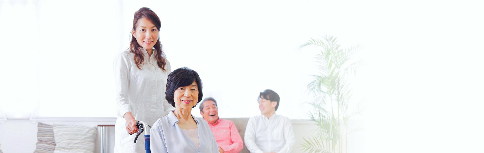 Smiling japanese people