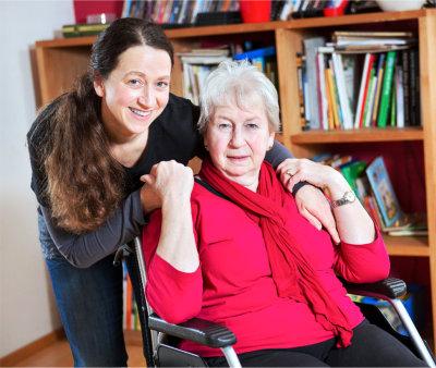 Female senior and her relative